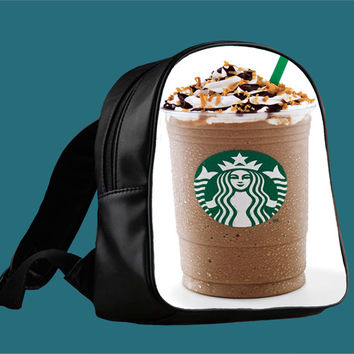 starbucks frappucino for Backpack / Custom Bag / School Bag / Children Bag / Custom School Bag ***
