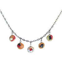 Fruit tart five-piece necklace
