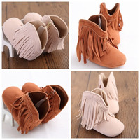 Baby Girl Fringe Boots Shoes