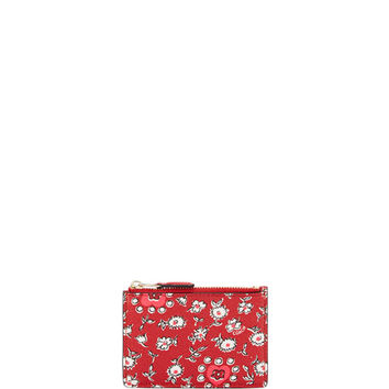 Coach Mini ID Skinny Card Case Key Chain, Red