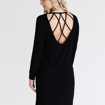 Black DLMN Detailed Back Dress