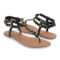 Threaded Thong Sandals