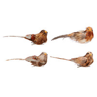Buy John Lewis Into the Woods Woodland Bird Clip On Tree Decoration, Pack of 4 | John Lewis