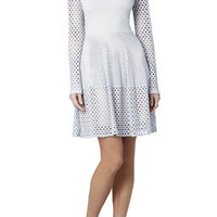 Kyla A-Line Long-Sleeve Dress - Grey