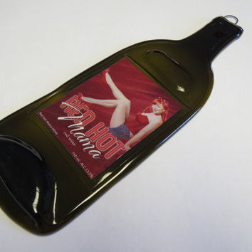 Red Hot Mamma Wine - Melted Bottle Cheese Board