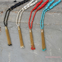 All Seasons Beaded Tassel Necklaces