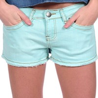 Vintage Havana Colored Denim Shorts - White
