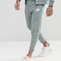 Nike Advanced Knit Skinny Joggers In Green 885923-365 at asos.com