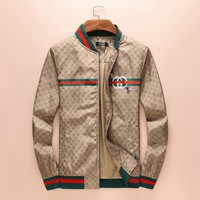 GUCCI Women Men Zipper Cardigan Jacket Coat
