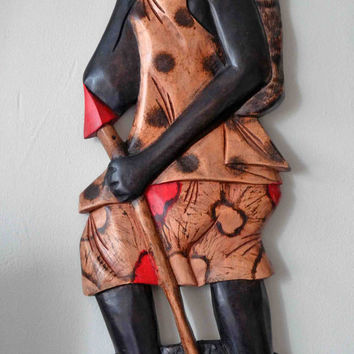 African Art, Tribal Art, Black Art, Wall Decor, Yoruba, Home And Garden, African Craft, African American Art, Afrocentric art, Afro Cuban