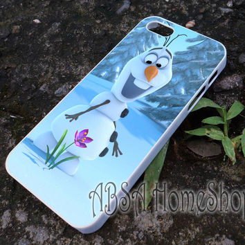 snow olaf disney frozen case for iPhone 4/4s/5/5s/5c/6/6+ case,iPod Touch 5th Case,Samsung Galaxy s3/s4/s5/s6Case, Sony Xperia Z3/4 case, LG G2/G3 case, HTC One M7/M8 case galaxy
