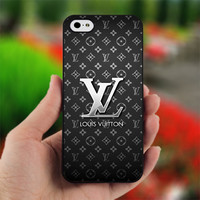 Louis Vuitton Black Metal Custom - Design for iPhone 5 Black Case