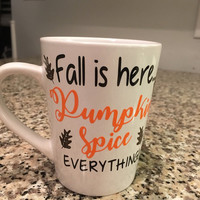 Fall, Fall Gift, Fall Cup, Fall Mug, Pumpkin Spice Mug, Pumpkin Spice, Personalized Coffee Mug, Fall Coffee Mug, Pumpkin