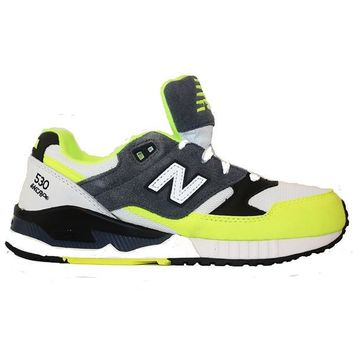 new balance 530 90 s running remix yellow grey black lifestyle sneaker