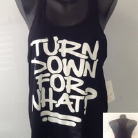 Racer tank w/ laced back- Turn Down for What