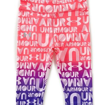 Under Armour Little Girls 2T-6X Gradient Wordmark Capri Leggings | Dillards