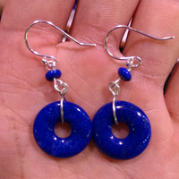 lapis earrings blue ring earrings 925 silver gift for mother daughter