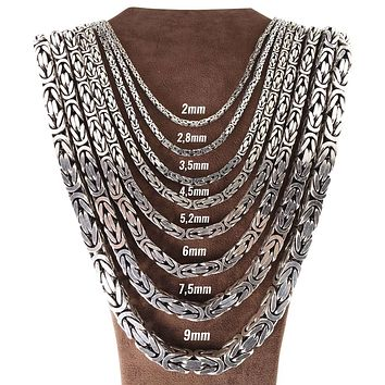 Byzantine kings chain 925k sterling silver necklaces