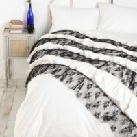 White and Black Ruffles Duvet Cover