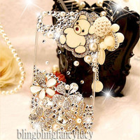 Best iPhone 4 case - iphone 4 case - Crystal iPhone 4 Case - Cute Bear iphone 4 case - Flower iPhone 4 case - Pearl iphone 4 case a Charm