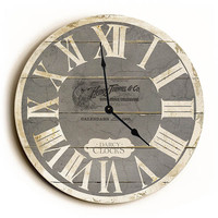 Grey French Style Unique Wall Clock by Dickery Dock