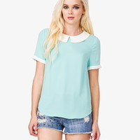Peter Pan Collar Top | Forever 21 - 2022353059