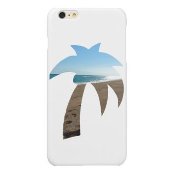 Beach Themed Palm Tree Glossy iPhone 6 Plus Case