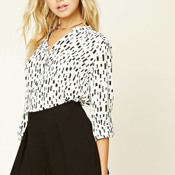 Contemporary Geo-Print Top