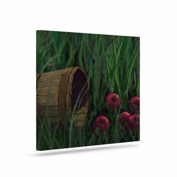"""Cyndi Steen """"Today's Therapy"""" Green Red Canvas Art"""