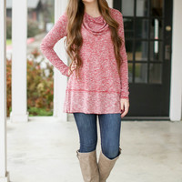 Jet Set to Me Sweater - Red