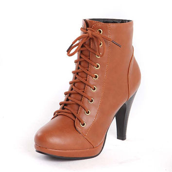 women ankle boots high heel winter fashion Boots sexy warm lady boot heels footwear shoes sale size 39 Platform boots