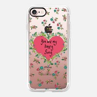 You Are My Happy Song - Pink (transparent) iPhone 7 Case by Lisa Argyropoulos | Casetify