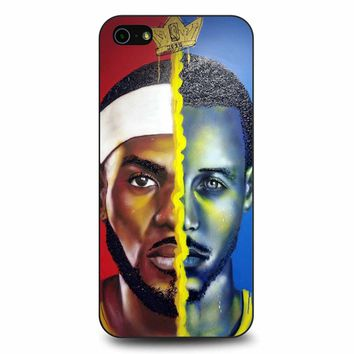 Lebron James Vs Steph Curry Painting iPhone 5/5s/SE Case