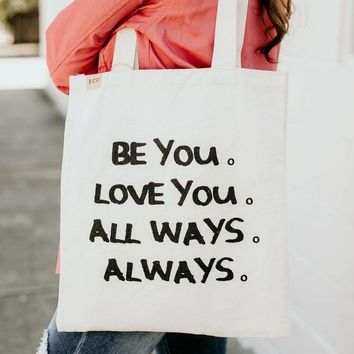 Be You Canvas Grocery Bag