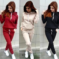 Women'S Fashion Long-Sleeved Two-Piece Pants