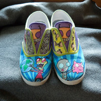 Invader Zim Painted Shoes Custom