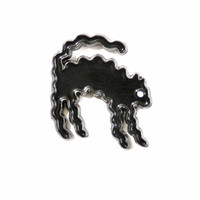 Wavy Black Cat Lapel Pin (Limited Edition)