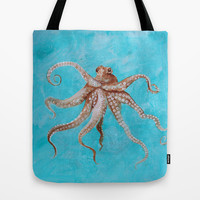 Wild Wonderful Octopus Tote Bag by Robin Maria Pedrero