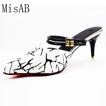 2017 Sexy piont toe women Sandals High Heels bow-tie two ways woman pumps Ladies Summer Slippers Shoes ALF254