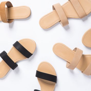 Double Banded Slide Sandals