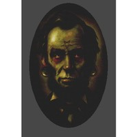 Zombie Abraham Lincoln Cross Stitch Kit