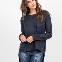 Hi-Low Knit Sweater