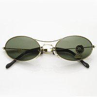 Vintage Deadstock Oval Metal Sunglasses 7017