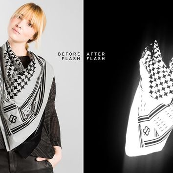 Flashback Silver-Screen Scarf | Reflective Scarf | Betabrand & Chris Holmes