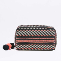 Coral and White Tapestry Make-Up Bag - Urban Outfitters