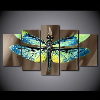 Colored dragonfly wings print - wall art on canvas picture Wall Art Panel Canvas