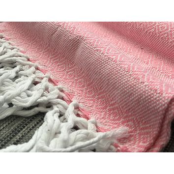 Mexican Rebozo Shawl - Light Pink Vibes