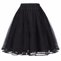 50s 60s Crinoline Petticoat with 8 colors Retro Vintage Wedding Petticoats Ruffle Adult Women Tutu Skirts Underskirt 2016 Hot