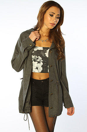 The Sierra Army Wool Jacket in Heather Charcoal