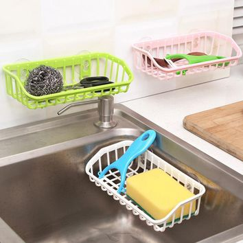 Hanging Storage Basket Drain Basket Sink Hanging Wash Cleaning Storage Gadgets Kitchen Sponge Holder Suction Cups